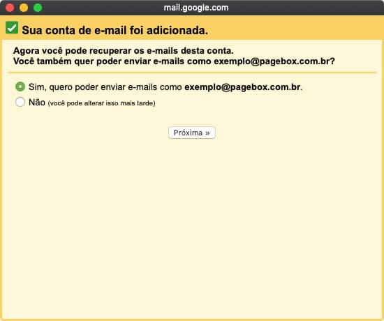 Autorizando o Gmail a enviar emails pelo seu domínio