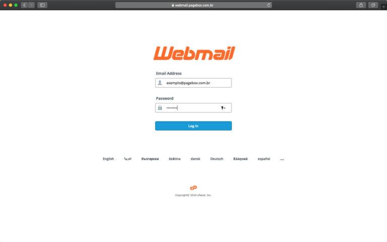 Acessando o Webmail